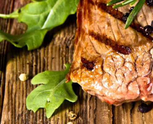 Galloway Genussfleisch schön angerichtet