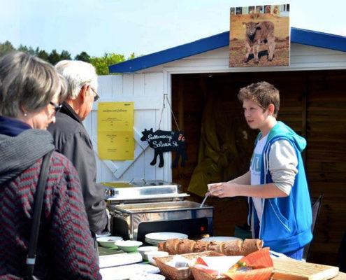 Marktstand Galloway Genussfleisch