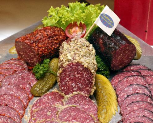 Verschiedene Sorten Galloway Salami