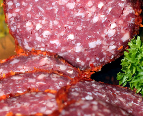 Spezielle Sorte Galloway Salami
